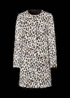 Ziegenfellmantel mit Leopardenmuster