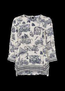 Blusenshirt mit Alloverprint
