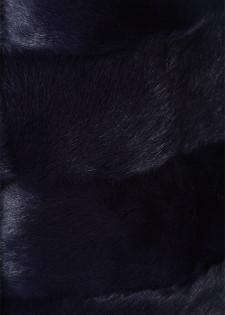 Wollmantel mit Fellbesatz