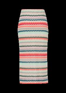 Schmaler Rock mit Zick-Zack-Muster