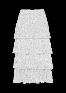 Plissee-Stufenrock mit Punktemuster