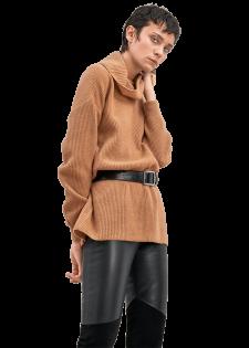 Softer Rollkragenpullover im Oversized-Look