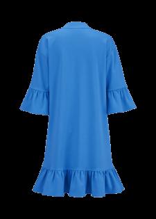 Cotton-Kleid mit Volants
