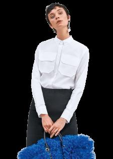Coole Hemdbluse mit Brustpattentaschen