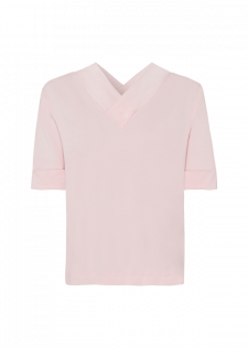 Shirt mit V-Kragen