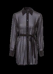 Transparente Bluse mit Glitzereffekten