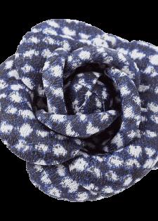 Textile Brosche in Blütenform