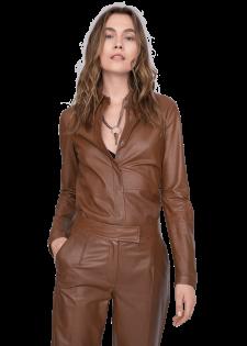 Leichte und elegante Lederjacke