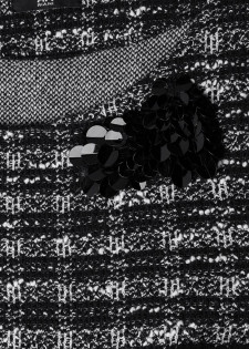 Tweedtop mit Pailletten-Dekor