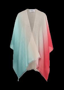 Poncho mit Farbverlauf