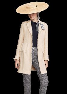 Mantel im Fransen-Look