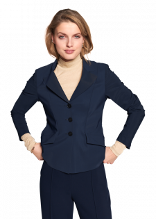 Jersey blazer in a classic look