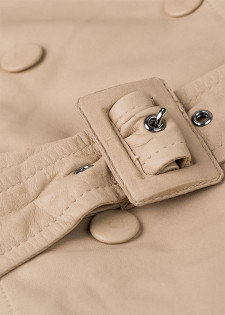 Trenchcoat aus Leder
