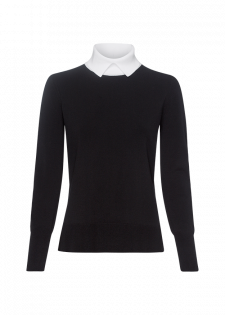 Pullover mit Umlegekragen
