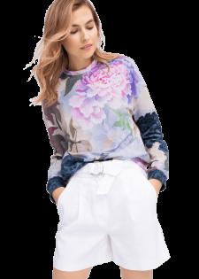 Sweatshirt mit floralem Alloverprint