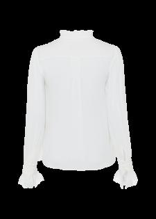 Crêpe-Bluse mit Spitzen-Details