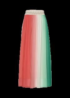 Plisseerock mit Farbverlauf