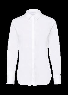 Elegante Hemdbluse mit verdeckter Knopfleiste