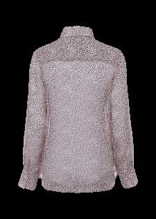 Transparente Bluse aus Seidenkrepp