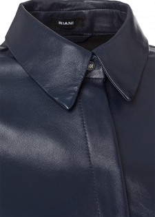 Lederhemd mit Druckknopfleiste