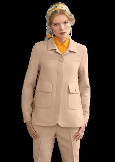Elegante Jacke mit Pattentaschen