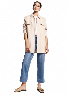 Jeans-Culotte im Used-Look