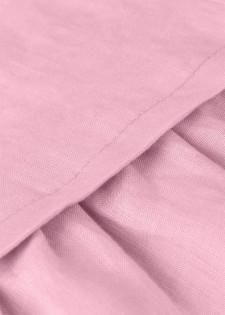 Kurzarmkleid aus Baumwolle mit Volantrock