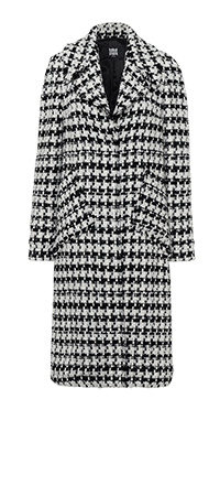 Tweed coat in a contrasting design