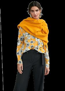 Zarte Bluse mit Flower-Print
