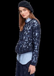 Pullover aus floraler Spitze