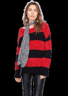 Trendiger Pullover im Streifendesign