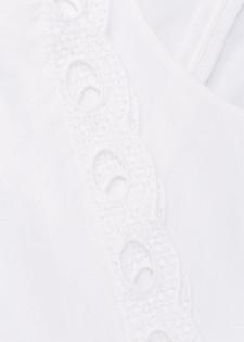 Blusenshirt mit Lochspitzen-Details