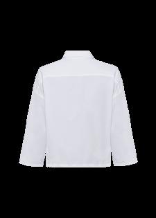 Kastige Bluse mit Taschen