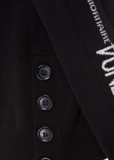 Rollkragenpullover mit Wording-Details