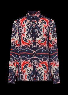 Bluse im Alloverdesign