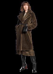 Mantel aus Teddyplüsch