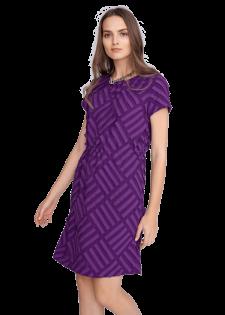 Kleid mit applizierten Streifen