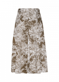 Faltenrock mit Tropical-Print