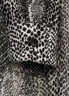 Langarmbluse im Animal Print