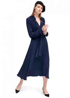 Elegantes Blusenkleid mit Bindeband