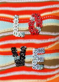 Streifenpullover mit Zierdekor