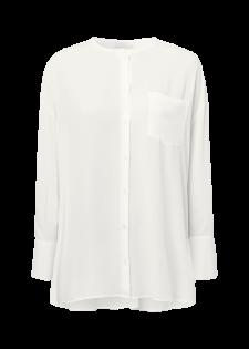 Puristische Bluse im Oversized-Stil