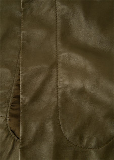 Kapuze aus Leder