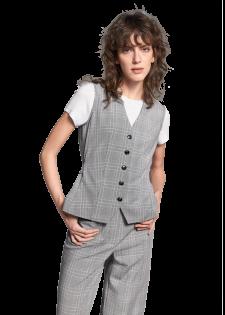 Vest with a glen check pattern