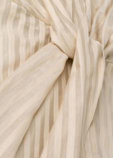 Streifenkleid mit Wickel-Detail