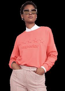 Sweater mit 3D-Prägung