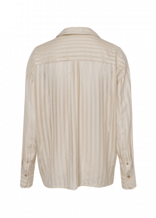 Voile-Bluse mit Streifen-Struktur