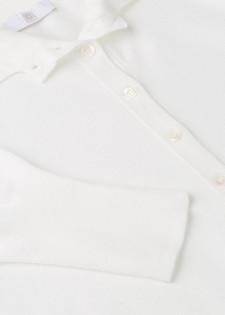 Moderner Pullover mit Polokragen