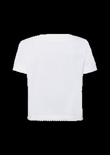 T-Shirt mit Spitzendetail am Ausschnitt