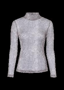 Transparentes Shirt mit Reptilprint